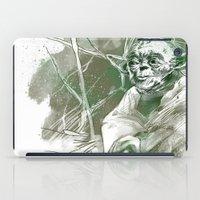 yoda iPad Cases featuring Yoda by Luis Dourado