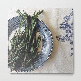 Fresh Rosemary  Metal Print