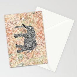 Tribal Paisley Elephant Colorful Henna Floral Pattern Stationery Cards