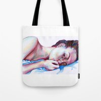 instagram Tote Bags featuring Instagram Portrait by Debbie Chessell