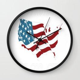 Protected By God, Guns, Guts, Glory Wall Clock