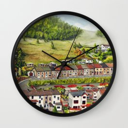 Cwm Parc, Treorchy, South Wales Valleys Wall Clock
