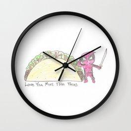 Merc Taco Sketch Wall Clock