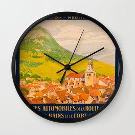 Vintage poster - Route du Jura, France Wall Clock