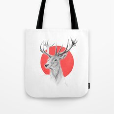 Deer | red Tote Bag