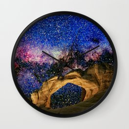 Broken Arch Night Sky Design Wall Clock