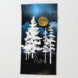 Full Moon Rising II Beach Towel