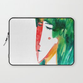 fun watercolor character Laptop Sleeve