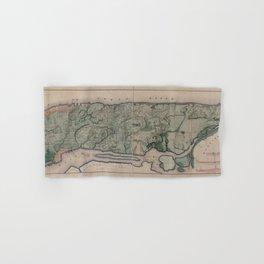 Vintage Map Print - New York City, 1865 Hand & Bath Towel