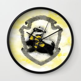 Hufflepuff Splatter Wall Clock