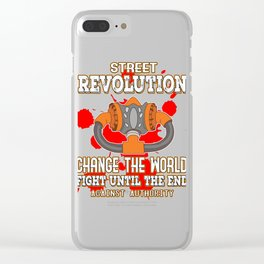 This is the awesome revolutionary Tshirt Those who make peaceful revolution Change the world & fight Clear iPhone Case