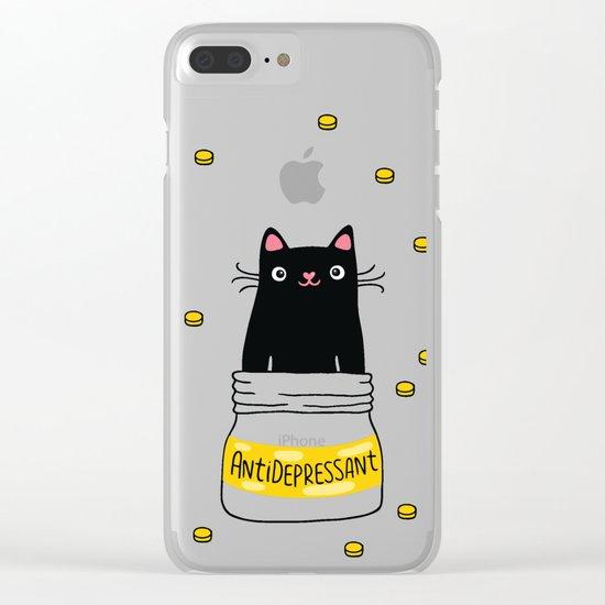 FUR ANTIDEPRESSANT Clear iPhone Case