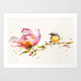 Magnolia & Buddy Art Print