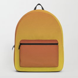 Dark Orange and Yellow Ombre Gradient Blend 2021 Color of the Year Illuminating & Accent Shade Backpack