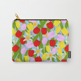 bright spring flowers Carry-All Pouch