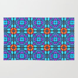 Southwestern Glass Tile Digital Art Rug