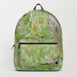 Pipit on the Lawn Backpack