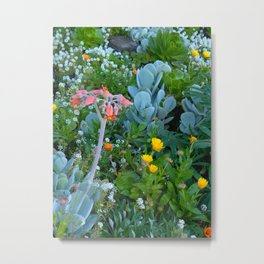 Succulents & Flowers Metal Print