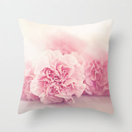 Pale Pink Carnations 4 Throw Pillow
