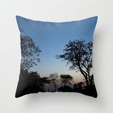 African Trees Throw Pillow
