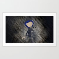 coraline Art Prints featuring Coraline Minimalist by Violet Tobacco