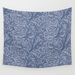 Blue Sparrow Wall Tapestry