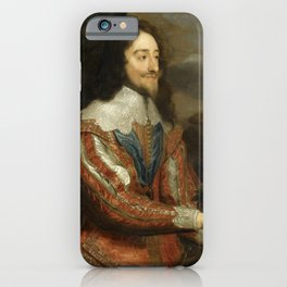 """Sir Anthony van Dyck """"Double portrait of Charles I and Queen Henrietta Maria"""" iPhone Case"""