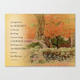 Serenity Prayer Autumn Harmony Canvas Print