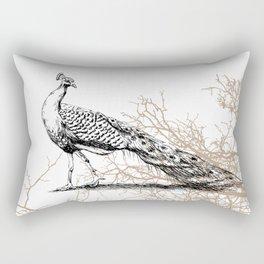 Peacock print Rectangular Pillow