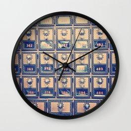 Vintage Post Box Texture Wall Clock
