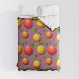 Illustration Fruit Default Seamless Background Comforters