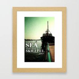 A Smooth Sea Inspirational Poster Framed Art Print