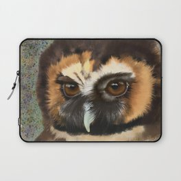 Brown Wood Owl  Laptop Sleeve