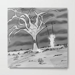 A Haunted Tree Metal Print