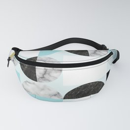 Mid Modern Moon and Sun Geometric Pattern - blue Fanny Pack