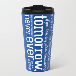 Doctor Who Quote Poster Travel Mug