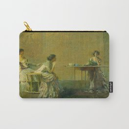 The Gossip by Thomas Wilmer Dewing - Victorian Belle Époque Retro Vintage Fine Art Carry-All Pouch