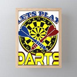 Darts Dartboard Arrows  Target  Games Sports Gift  Framed Mini Art Print