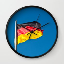 the flag of Germany Wall Clock