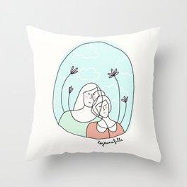 FRIENDSHIP // L'amitié. Throw Pillow