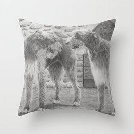 Irish wolfhounds - Gentle giants Throw Pillow