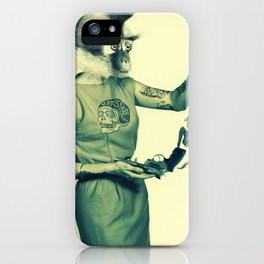 Housewife with gun iPhone Case