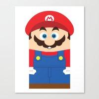 super mario Canvas Prints featuring Super Mario by Xiao Twins