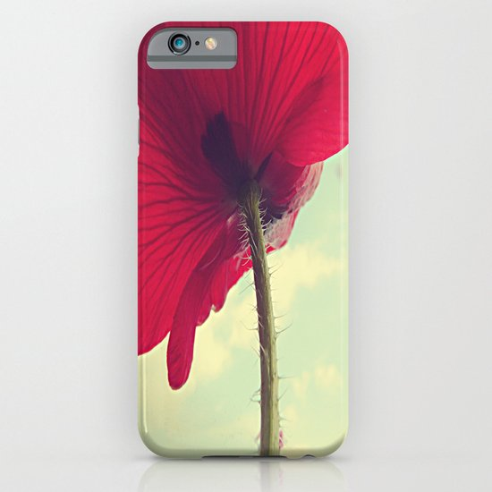 Red Poppy, Blue Sky iPhone & iPod Case