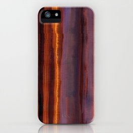 Wildfire Watercolor Stripe iPhone Case