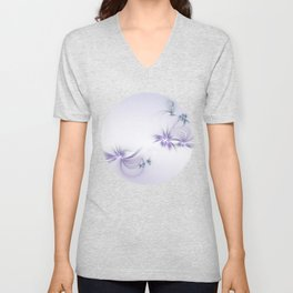 Fey Lights Fractal in Violet Unisex V-Neck