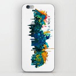 Las Vegas Watercolor Skyline iPhone Skin