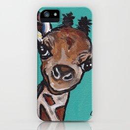 Giraffe Painting, Cute Giraffe Art, Safari Art iPhone Case