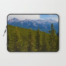 Collin Range as seen from the Palisades in Jasper National Park, Canada Laptop Sleeve