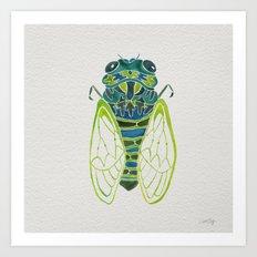 Blue Cicada Art Print